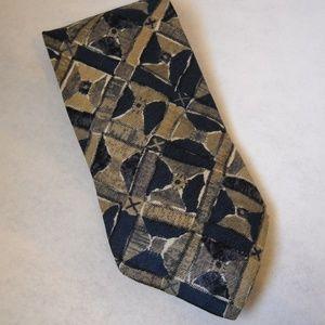 Pastime Arrow Navy Blue Gold Neck Tie 100% Silk